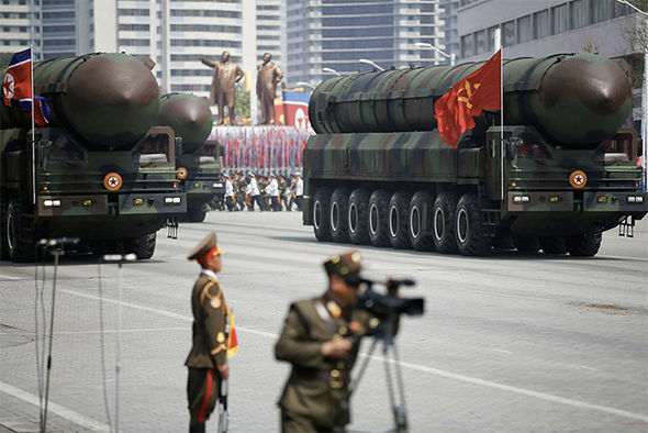 The suspected ICBM being paraded in Pyongyang