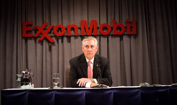 Tillerson in his role as ExxonMobil chairman