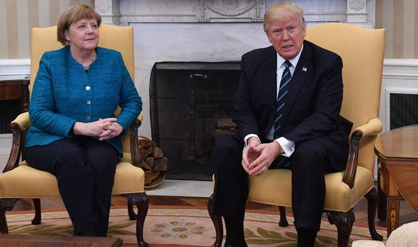 Trump Merkel NATO bill £300 billion