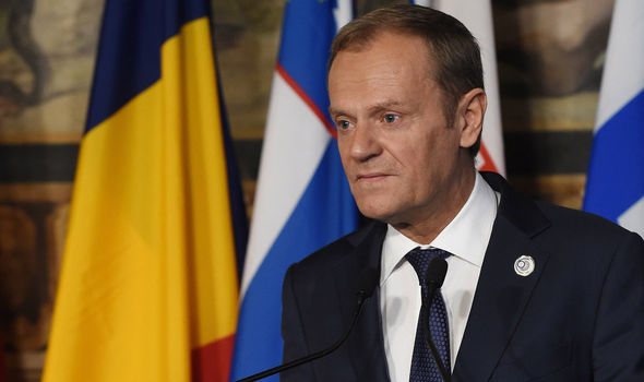 Donald Tusk is meeting with EU leaders as they plan a new declaration