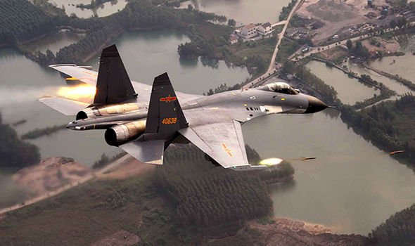 US China nuclear fighter jets intercept