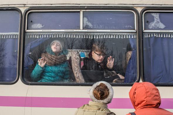 Ukrainian evacuees