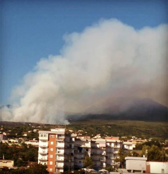 Fire on Vesuvius Italy