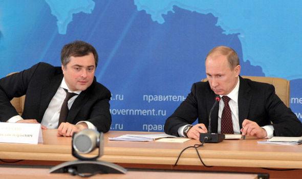 Vladimir Putin and Vladislav Surkov