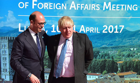 Boris Johnson has pushed for sanctions against Syria after chemical weapons attack