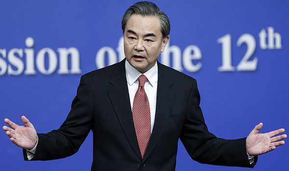 Wang Yi said North and South Korea are moving towards a 'head-on' collision