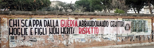 anit-migrant poster casapound