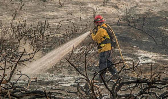 Fire crews put out blaze