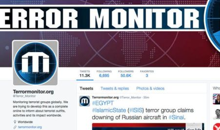 The tweet from Terror Monitor
