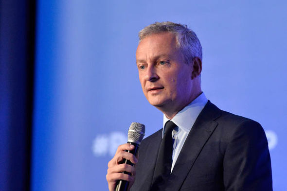 Bruno Le Maire making a speech