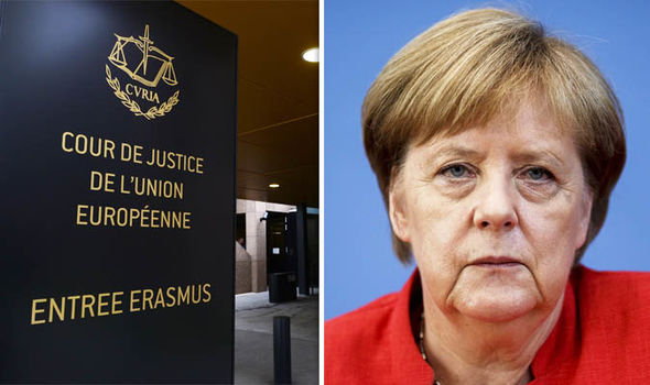 European Court of Justice and Angela Merkel