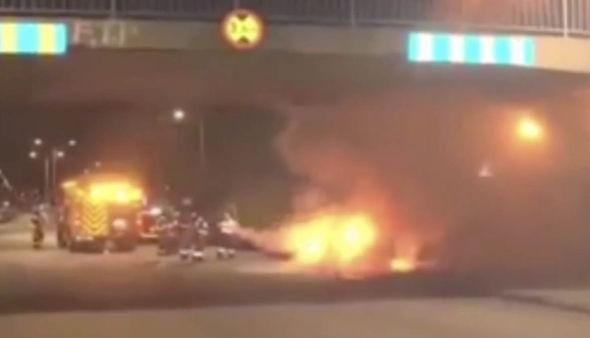 la quema de coches