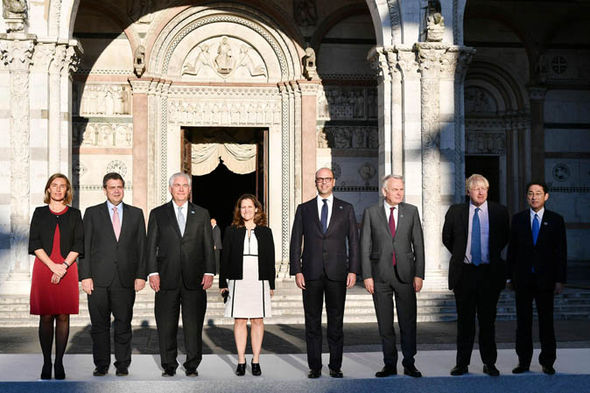 G7 foreign ministers