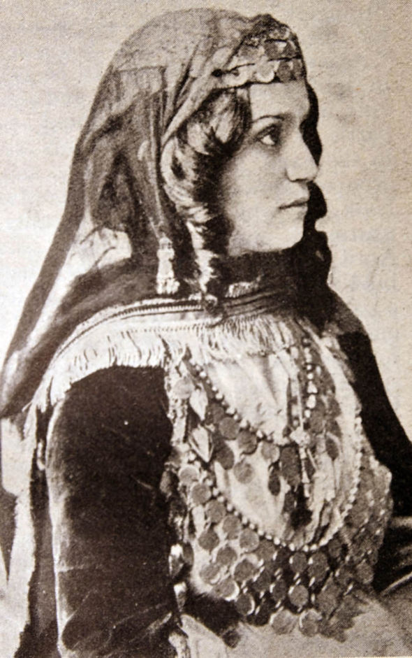 Cossack woman in traditional dress