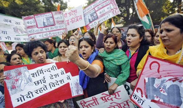 Women protest sex attacks in India