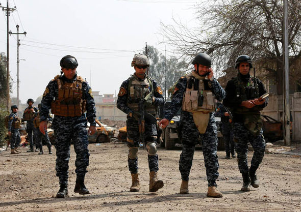 Iraqi police forces