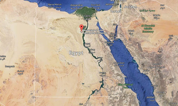 map of attack in Egypt