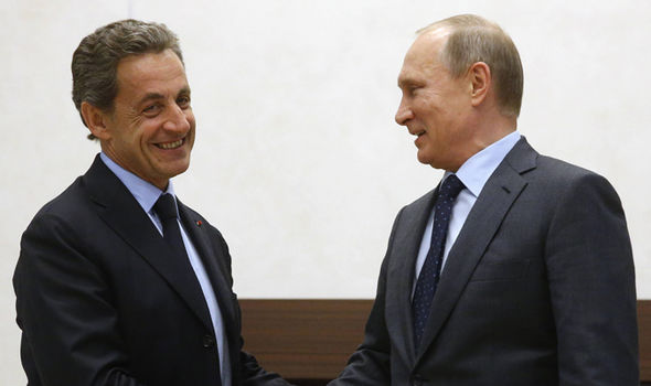 Putin and Sarkozy