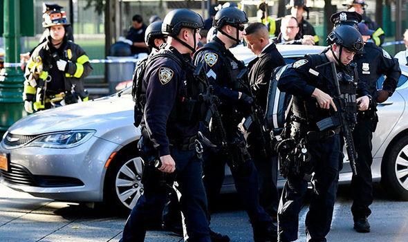 new york armed police terror attack