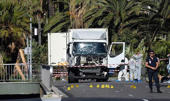 El camión usado en el ataque de Niza