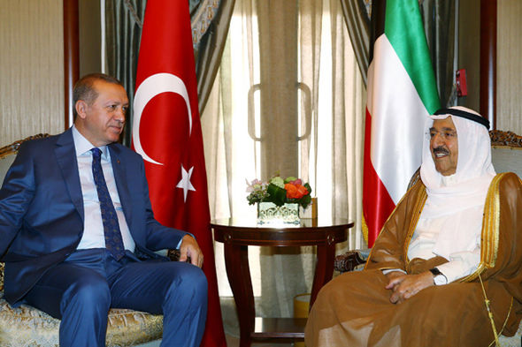 Recep Tayyip Erdogan and the Emir of Kuwait