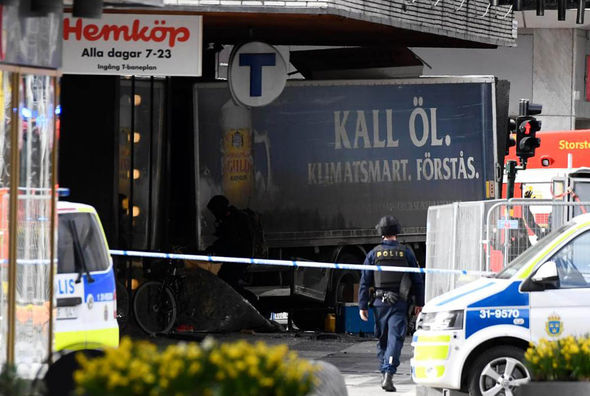 Truck crashed into shopping centre