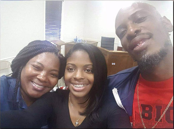 Alexis with parents Craig Aiken and Shanara Mobley