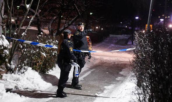 Police cordon off the scene