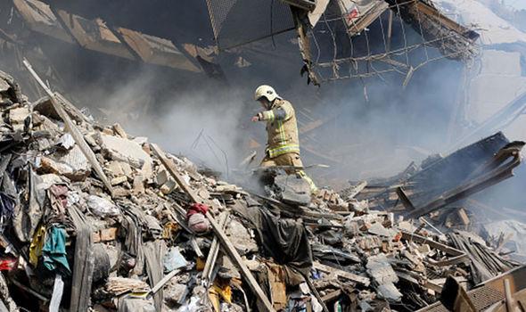 Tehran building collapse