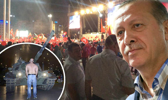 Rally in Taksim Square, President Erdogan