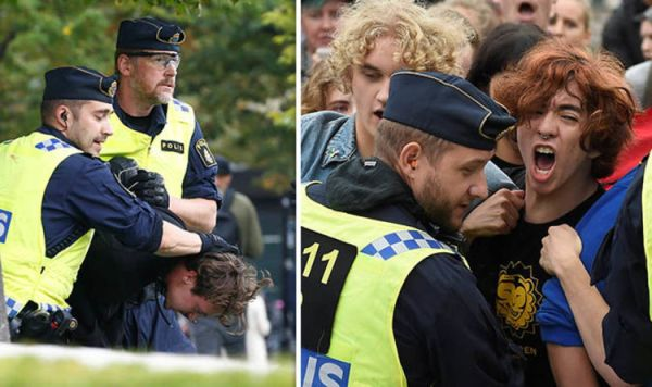 Sweden election news: Left-wingers clash with police at ...