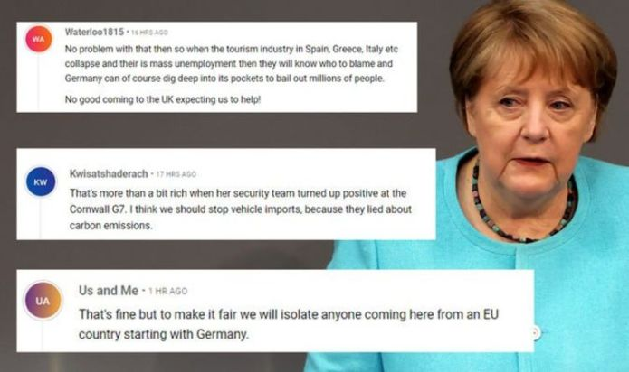 Merkel hit by angry backlash over crackdown on Britons – 'Quarantine for EU nations too!'
