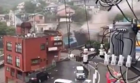 Japan landslide: 20 missing as coastal town devastated - resident says 'Can't be real'