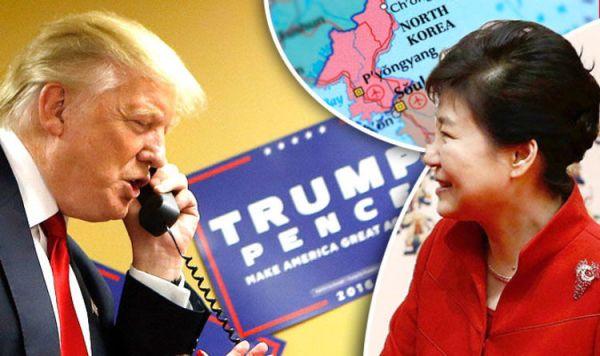 Trump on North Korea - President-elect promises to defend ...