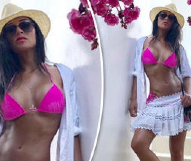 Nicole Scherzingers Ample Assets Take Centre Stage As She Sizzles In Hot Pink Bikini Celebrity News Showbiz Tv Express Co Uk
