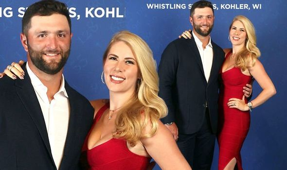 Jon Rahm's wife Kelley steals show at Ryder Cup 2021 dinner in tight boob-baring dress