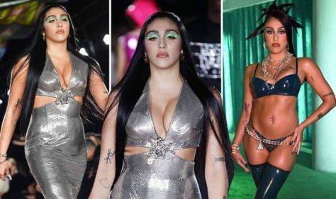Madonna's daughter Lourdes Leon turns heads with VERY busty display in tight-fitted dress