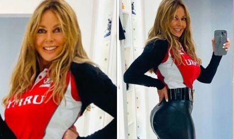 Carol Vorderman, 60, shares 'cheeky' update as she showcases curves in skin-tight leggings