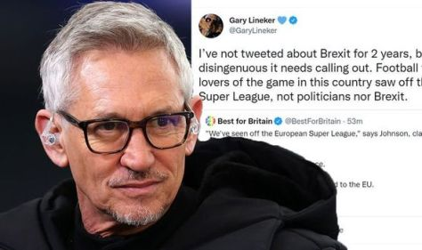 'This is so disingenuous' Gary Lineker calls out Boris Johnson over Brexit claim