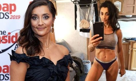 Emmerdale's Rebecca Sarker poses in pants as she teases 'more thrills and spills to come'