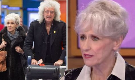 Brian May's wife talks 'awful' fears about life with 'grumpy' star after his heart attack