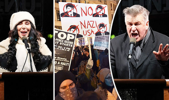 Cher and Alec Baldwin lead the protests