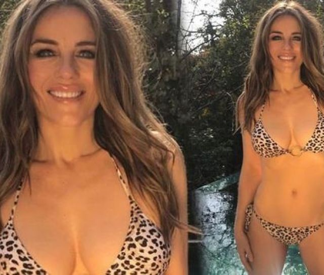 Elizabeth Hurley Instagram Actress  Leaves Little To The