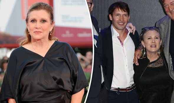 James Blunt and Carrie Fisher