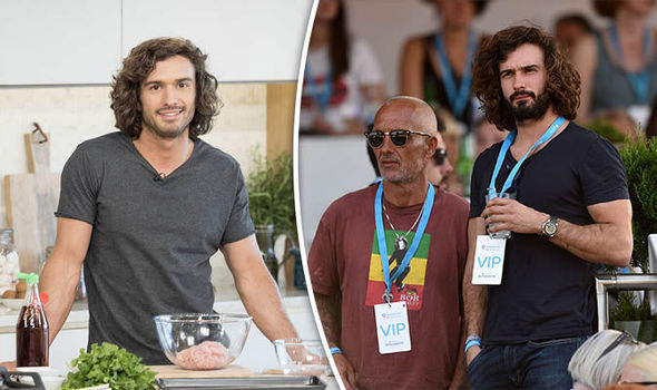 Joe Wicks on This Morning (left)