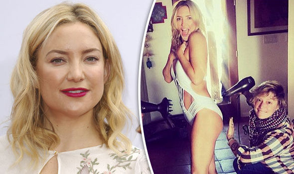 Kate Hudson Posts Cheeky Snap Of Her Bottom Being Blow