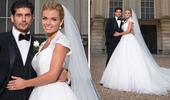 Katherine Jenkins weds fiancé Andrew in stunning white gown