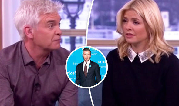 Phillip Schofield Holly Willoughby David Beckham