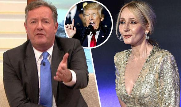 Piers Morgan JK Rowling Donald Trump Twitter