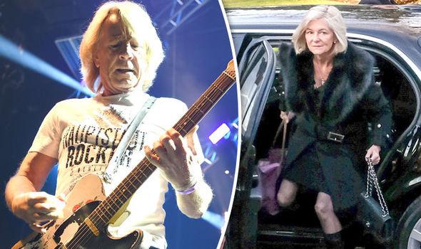 Rick Parfitt wife funeral guitar Lyndsay Whitburn
